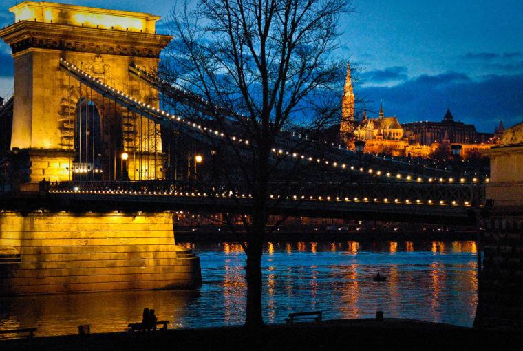 Budapest le Danube Janv 2011