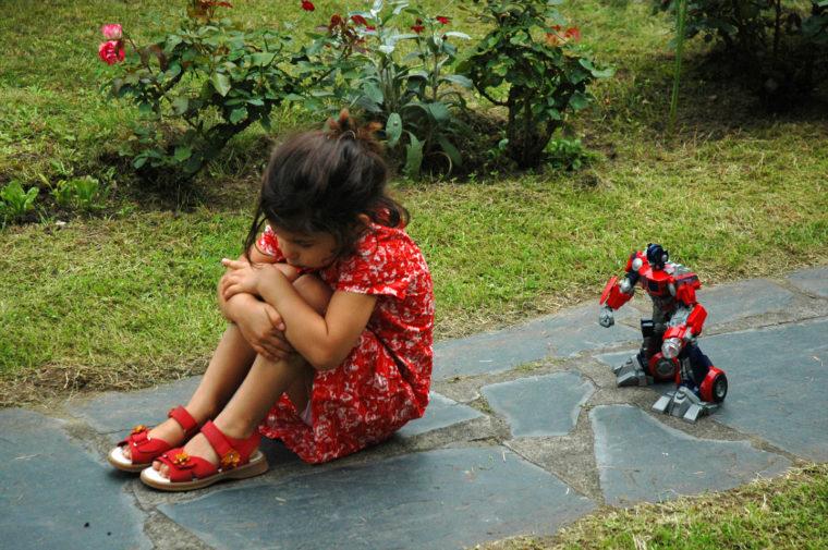 Marie et le robot Juillet 2007